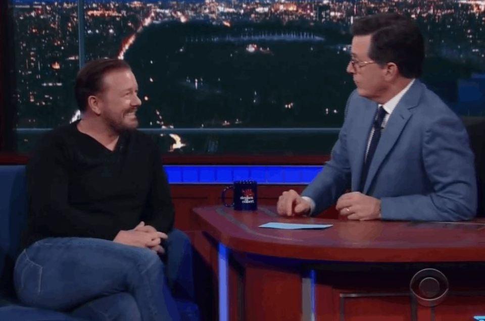 Ricky Gervais, Stephen Colbert