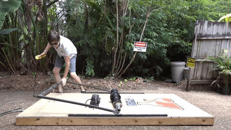 Backyard Scientist the backyard scientist builds giant mouse trap that destroy
