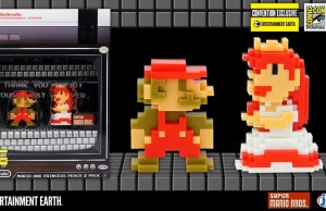 Nintendo 8-Bit Mario and Princess Peach
