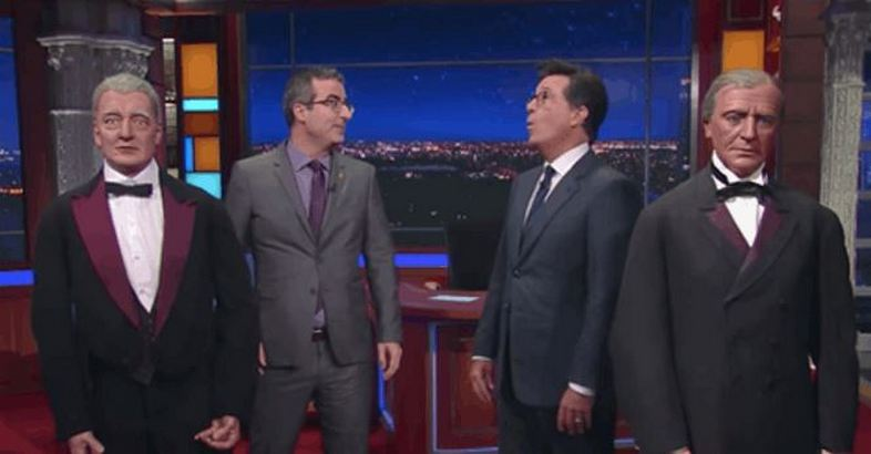 John Oliver and Stephen Colbert