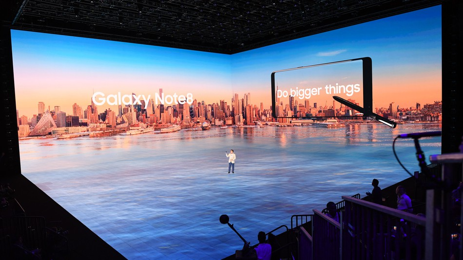 Samsung's Note 8 Event Stage