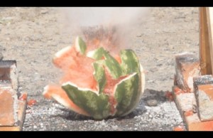 Pouring Molten Salt Into Melons
