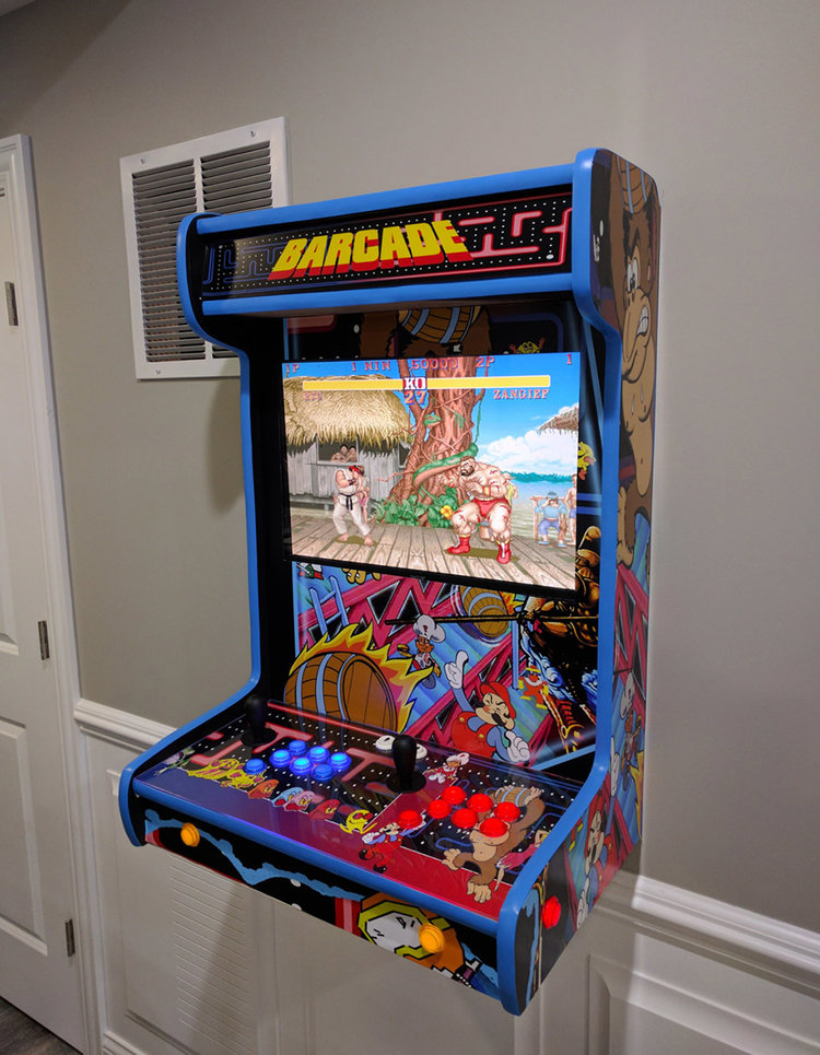 These Wall-Mounted Arcade Cabinets Are Simpy Awesome