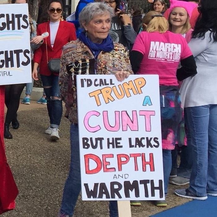 10 Best Signs From The 2018 Women's March