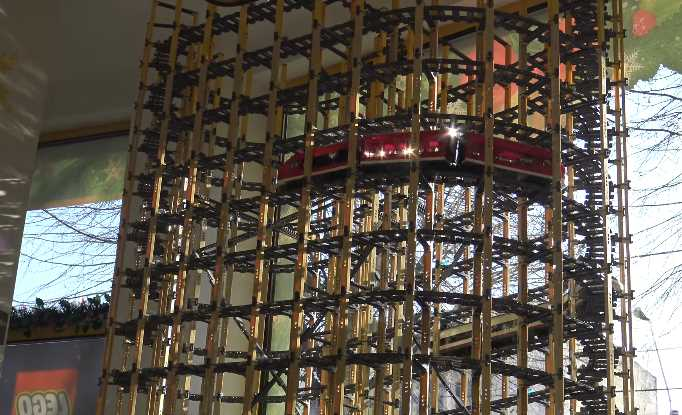 Worlds Largest LEGO Spiral Train Tower