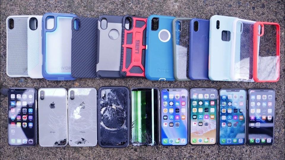 iPhone X Cases Drop Test