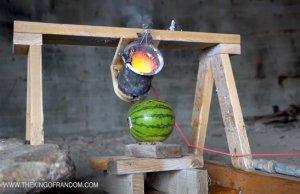 Molten Salt On A Watermelon