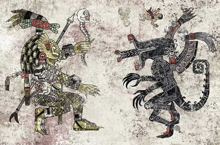Detailed Aztec Inspired Pop Culture Illustrations