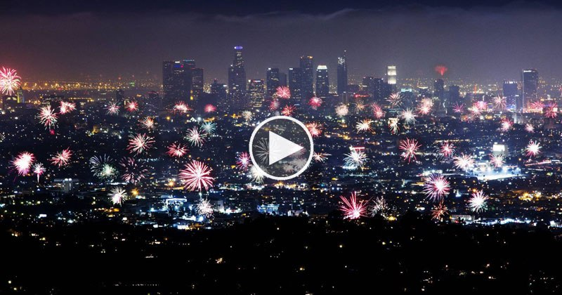 News Chopper Captures 4th of July Fireworks All Over LA