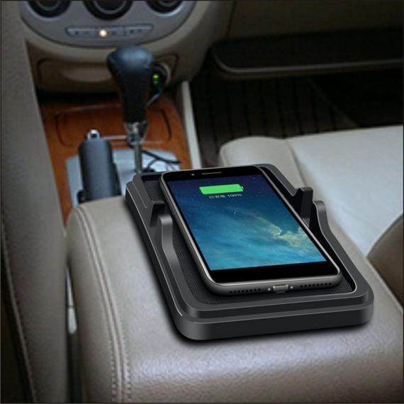 QI Wireless Dashboard Non-Slip Mat Pad Car Charger.
