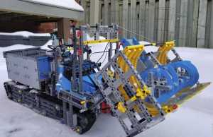 Snow Blower Made Out of LEGO