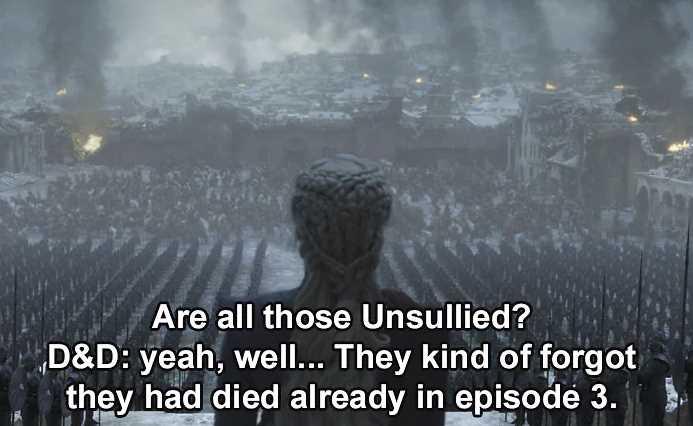game of thrones fails