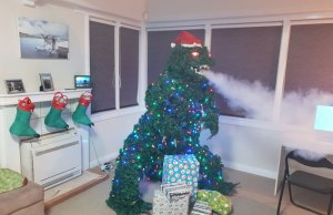 godzilla christmas tree