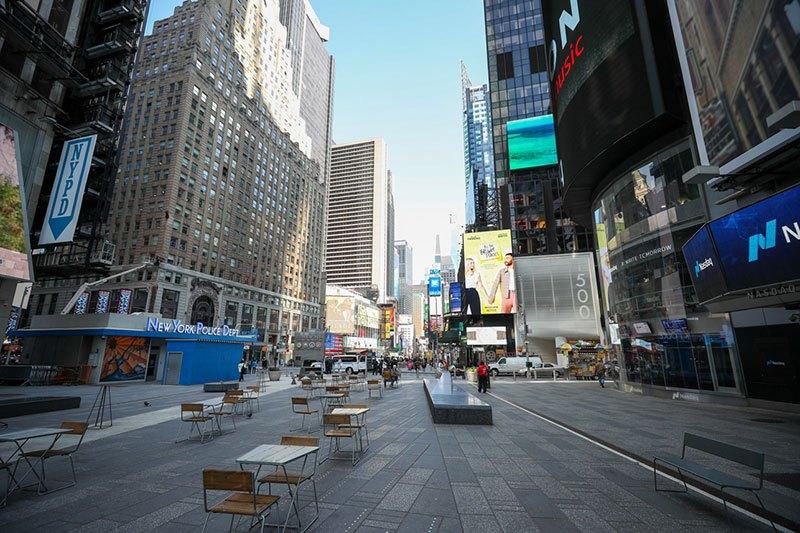 Picture of Times Square Coronavirus