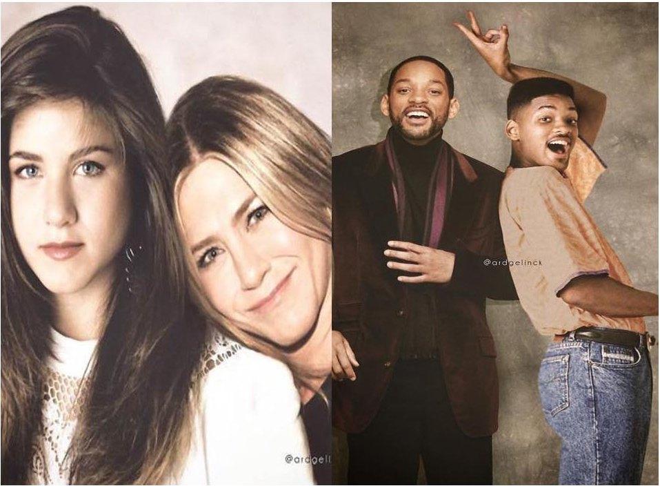 Celebrities Side-By-Side
