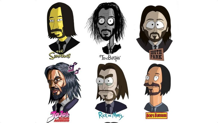 Celebrities and Characters in Cartoon Art