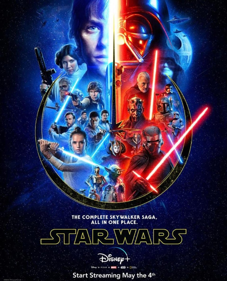 New Star Wars Poster For The Skywalker Saga And Disney Details For May The 4th Fizx