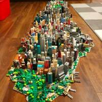 Manhattan Recreated in LEGO