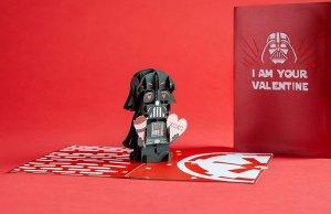STAR WARS Darth Vader Valentine's Day Pop-Up Card