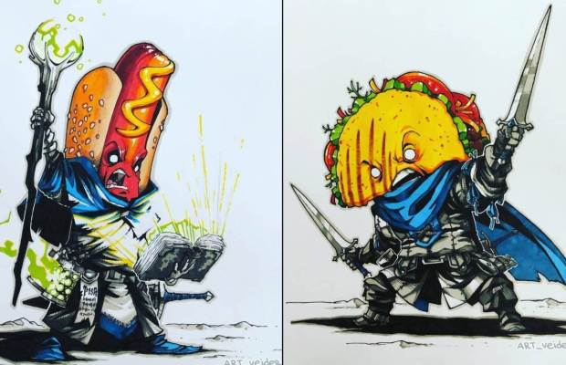 Foods Recreated as Medieval Fantasy Warriors