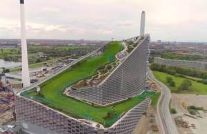 The Snowless Ski Slope on the Roof of a Power Plant in Copenhagen