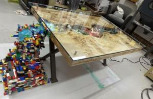 LEGO Waterfall River Table