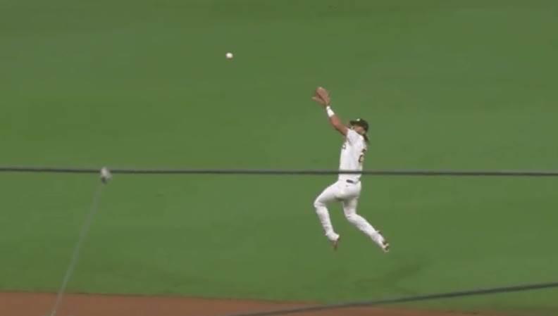 Baseball Player Double Jumps
