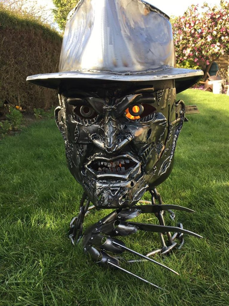 Freddy Kreuger Steel Fire Pit