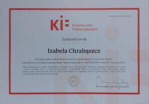 fizjoterapia częstochowa PWZFz 300x211 - Certyfikaty