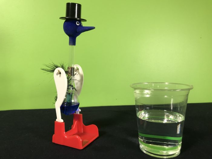 Drinking bird science experiment - materials needed