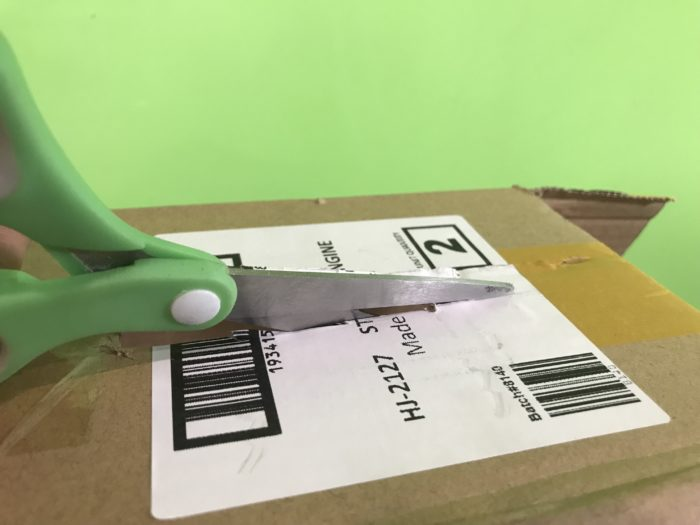Create a simple lens science experiment - cutting the cardboard box