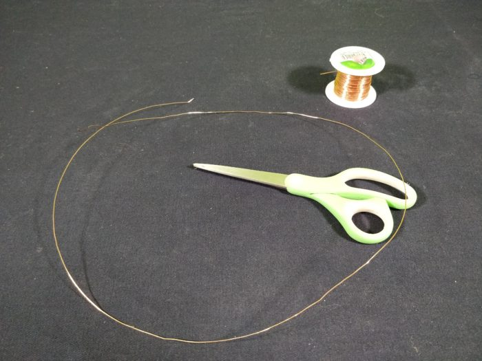 Make a Simple Motor - cut roughly 60cm of copper wire