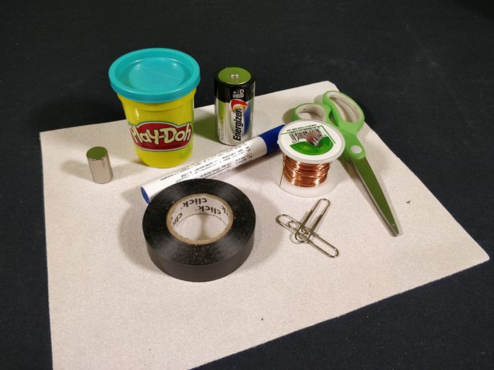 Make a Simple Motor - materials_ingredients needed