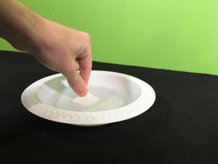 The Coin Battery Experiment Science Experiment - soaking paper in vinegar