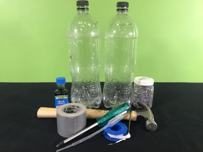 Tornado in a bottle science experiment - materials needed