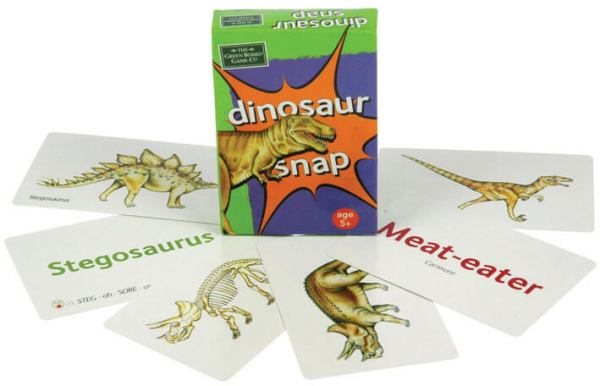 Dinosaur snap playing cards