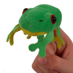Tree frog finger puppet