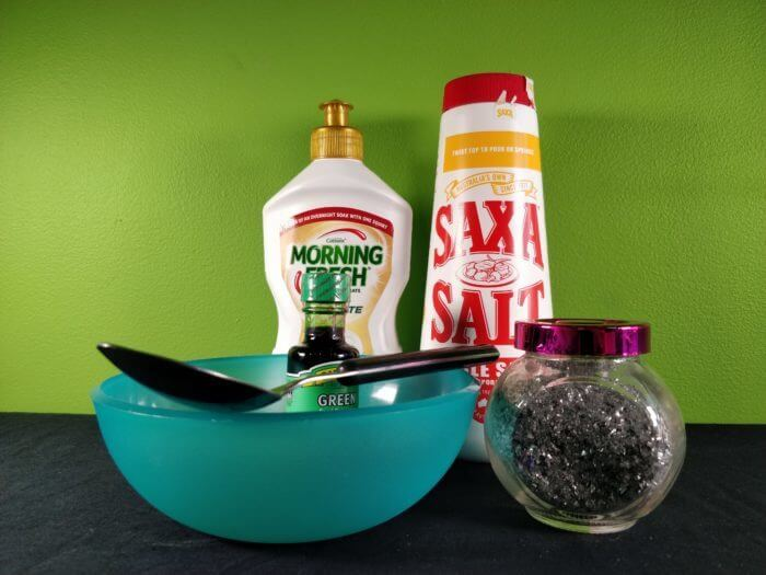 how to make activator for slime with salt