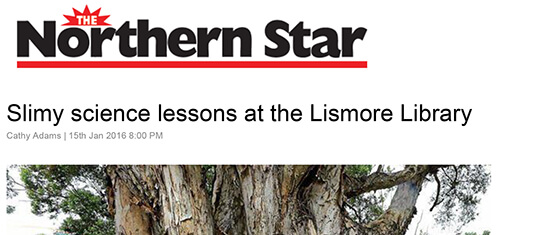 Northern Star - Slimy science lessons at the Lismore Library. 15 January 2016