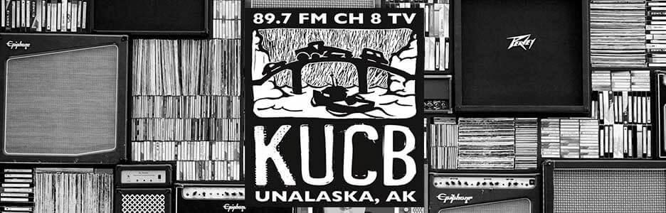 kucb-fm black and white logo
