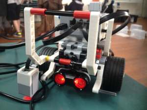 Lego robot close up