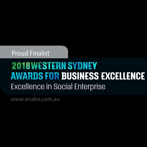 2018 WSABE Excellence in Social Enterprise logo with a black background