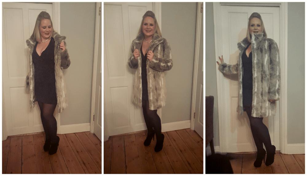 M&Co Faux Fur Coat Blogger Style Challenge