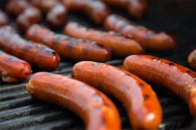 Spicy elk sausage