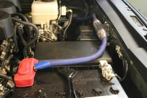 Whats the best way to connect you amp power cable to baterry is woofer is under seat?  Toyota