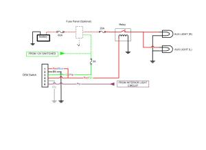 OEM AUX Light Switch Diagram  Toyota FJ Cruiser Forum