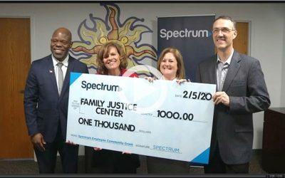 Spectrum donates $1,000 for video production
