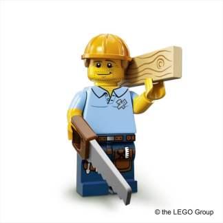 Lego-Minifigur Zimmermann Serie 13