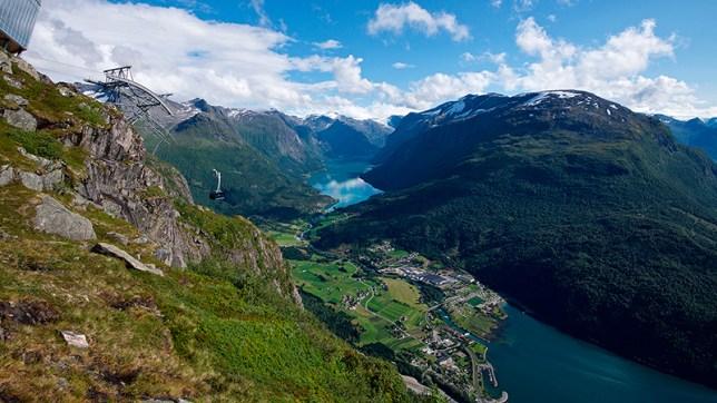 Loen Skylift in Nordfjord, Norway
