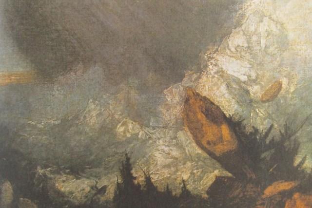 6: Avalanche in Graubünden.